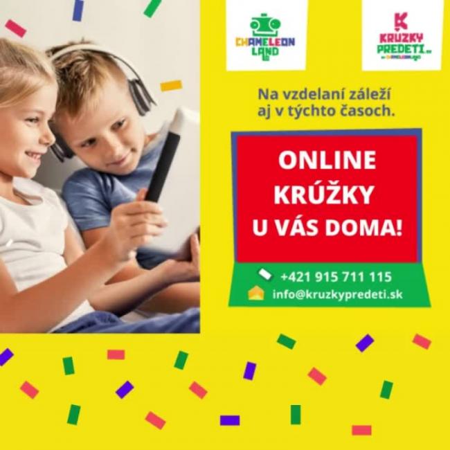 Online krúžky u VÁS DOMA!