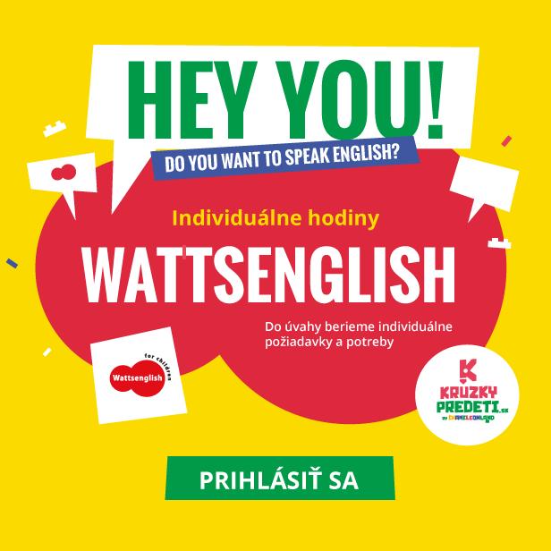 Individuálne hodiny Wattsenglish